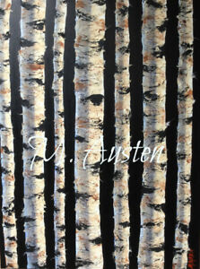 BIRCH TREE CANVAS ART (original artwork)