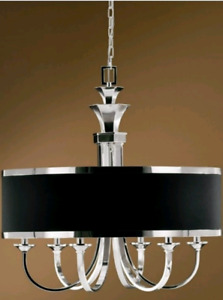 Current Page   Back to Chandeliers  Uttermost Tuxedo 6 Light Bla