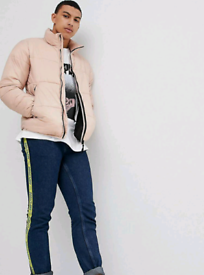 Pull and Bear pink puffer jacket