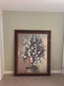 """High ceiling print with antique frame 45""""x57"""""""