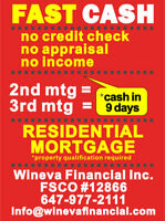 2nd Mortgage & 3rd Mortgage No Credit Check - No Appraisal