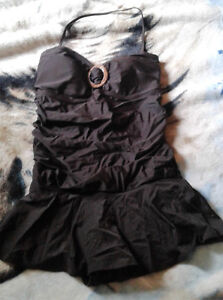 Brown Full Piece Bathing Suit Size 14