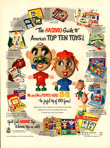 1954 authentic full-page magazine ad for Hasbro Mr. Potato Head