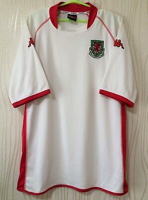 WALES NATIONAL TEAM 2002 2004 KAPPA AWAY FOOTBALL SOCCER SHIRT JERSEY for sale  Shipping to Canada