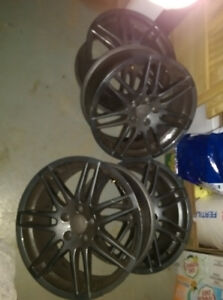 18 inch Audi S4 rims 5x112, 8in wide, 45mm offset, 57.1 mm bore