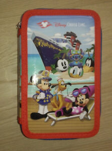 NEW Disney Cruise pencil case with 3 filled compartments