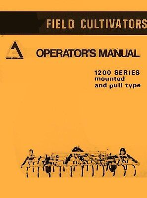 Allis Chalmers 1200 Mounted Cultivator Operators Manual