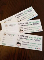 Two Tickets anywhere West Jet Flies!