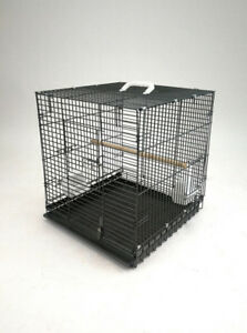 Heavy Duty Folding Parrot Travel Carrier Bird Cage