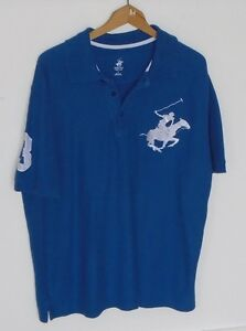 VINTAGE BEVERLY HILL POLO CLUB GOLF SHIRT LARGE SUPERHORSE CREST