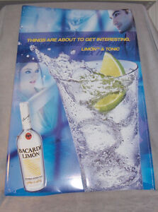 Bacardi Limon and Tonic  Tin Sign Belleville Belleville Area image 1