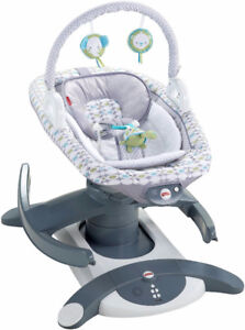 FISHER PRICE 4-IN-1 ROCK 'N GLIDE SOOTHER BABY SWING EUC