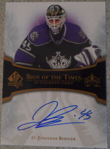 Jonathan Bernier , 2007-08 : SP Authentic Sign Of The Times