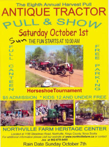 Antique Tractor Pull & Show / SUNDAY OCT 1st, 2017