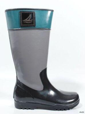 new SPERRY Top-Sider 'Pelican' black/grey fleece-lined SNOW RAIN BOOTS 5 -
