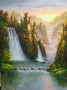 """36""""*48"""" falls of Lu Mountain oil painting  On SALE!"""