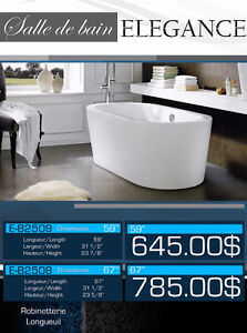 NEW Free standing bathtubs 14 models / Bains autoportants NEUFS