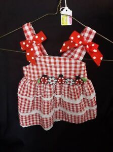 Red and White Lady Bug Dress
