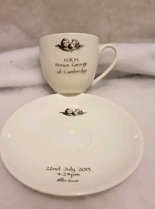 Prince George commemorative tea cup and saucer