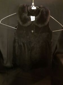 Black Dress With Faux Fur Collar