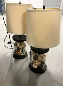 Matching Tan Table Lamps