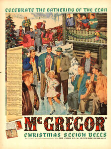 Large (10 ¼ x 14 ) 1950 ad for McGregor Clothing