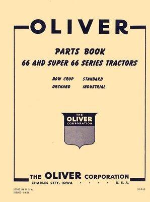 Oliver 66 Super 66 Tractor Parts Book Manual List Ol