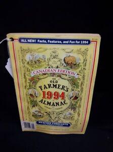 The old Farmer's Almanac 1994 Canadian Edition