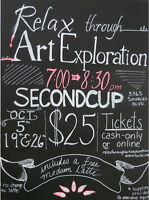 Relax through Art Exploration-Limited space!
