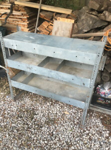 Metal shelf unit garage basement shed storage