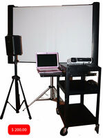 Projector and  screen for rent