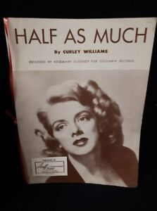 Half as Much Sheet Music by Curley Williams