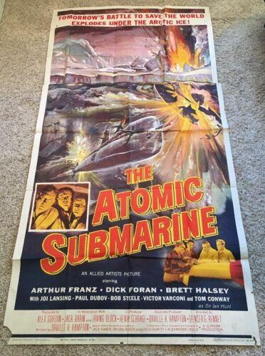 Atomic Submarine Three Sheet Movie Poster -   *Hollywood Posters*
