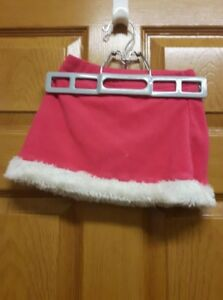 Pink and White Fleece Skirt