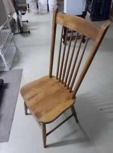 6 Beautiful Chairs, SOLID MAPLE, available for sale.