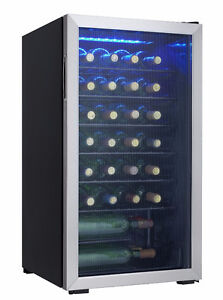 Danby 36 Bottle Freestanding Wine Cooler DWC93BLSDB, New