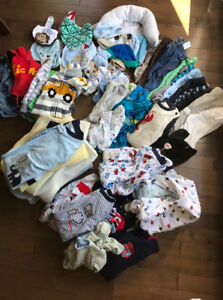 0-3 month boys baby clothes