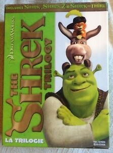 I AM SELLING THE SHREK TRILOGY ITS USED BUT IN GOOD CONDITION