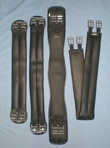 "Black WINTEC and THOROWGOOD girths Dressage & Long 24"" 28"" 46"""