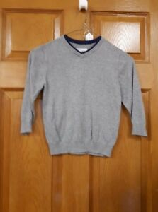 Boy's Grey and Blue Sweater Size: 4