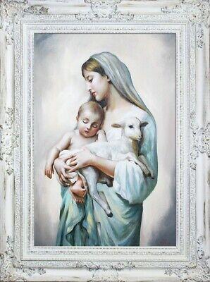 Religion Maria Handarbeit Ölbild Bild Ölbilder Rahmen Bilder G16994