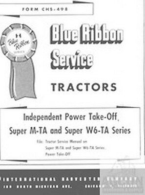 Farmall Power Take Off Service Manual Super M-ta W6-ta
