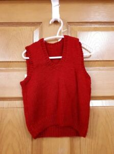 Child's Red Knitted VestSize: 3
