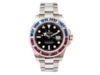 Rolex GMT Master 2 - 116710LN Pepsi Baguette Diamond bezel SARU