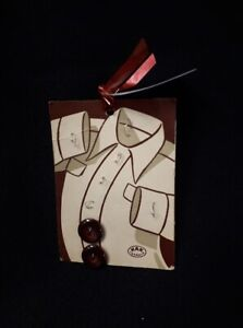Hak Toronto Maroon Buttons on Card