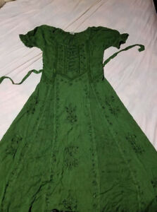 Green Celtic dress 100$