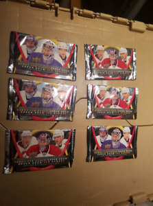 6 paquets de cartes de Hockey mcdo Upper Deck