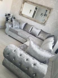 Rio Crush Velvet Corner Sofa