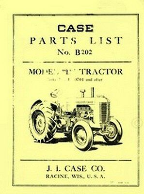 Case Early Model D Dc Di Do Tractor Parts Catalog Manual Serial 4300701-4402685