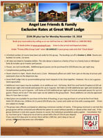 Great wolf lodge November 19/20  for the great deal $194.99